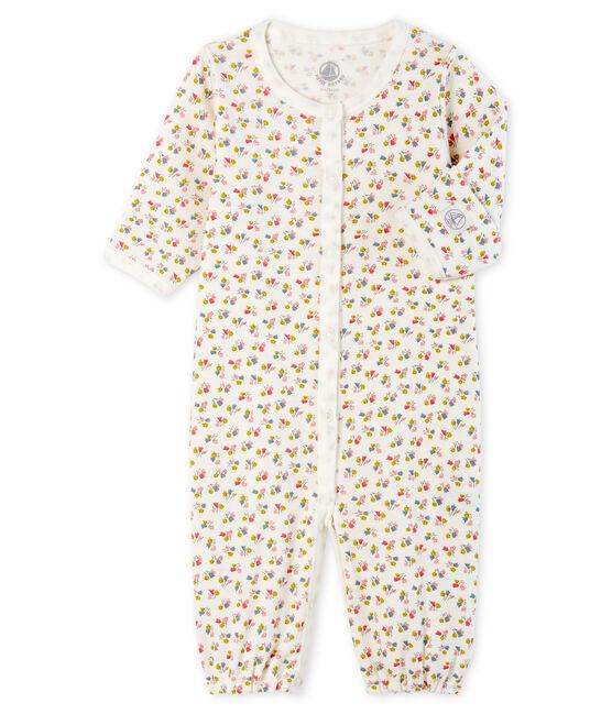 Mono-saco para bebé de punto blanco Marshmallow / blanco Multico