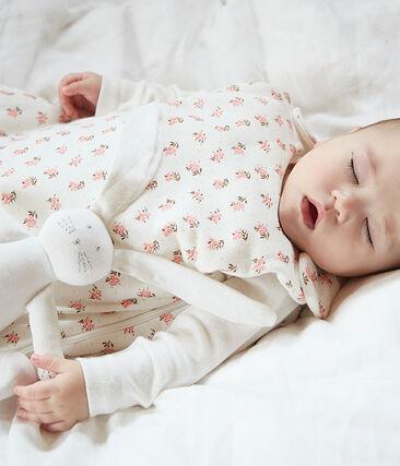 Saco de terciopelo para bebé blanco Marshmallow / blanco Multico