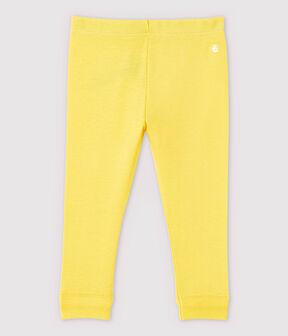 Leggings de algodón de bebé niña amarillo Raiponce