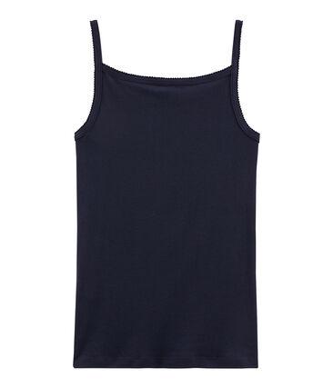 Camisa con tirantes de mujer azul Smoking