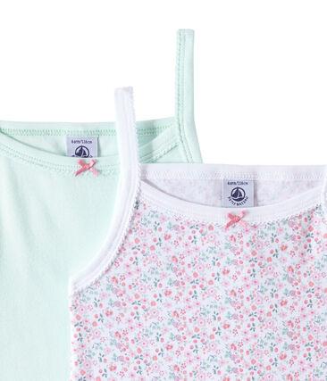 Lote de 2 camisetas de tirante fino para niña