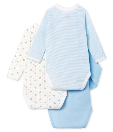 Lote de 3 bodis nacimiento manga larga para bebé unisex