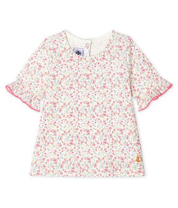 Blusa de manga corta estampado para bebé niña blanco Marshmallow / blanco Multico