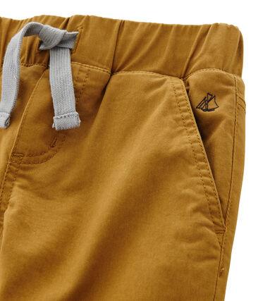 Pantalón con forro cálido para niño marrón Cuivre