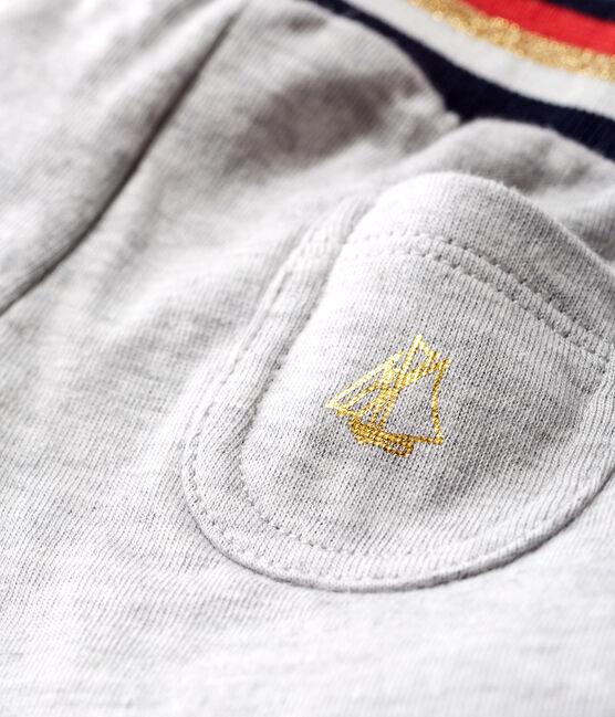 Pantalón de tela túbica para bebé niña gris Beluga