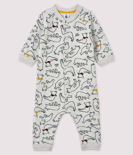 Buzo largo con para bebé niño gris Beluga / blanco Multico