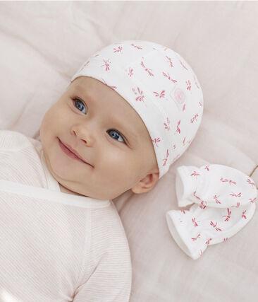 Juego de gorro de recién nacido y manoplas para bebé de punto lote .