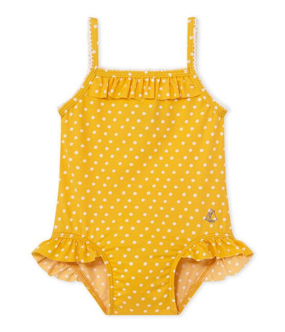 Bañador de niña con lunares naranja Fusion / blanco Marshmallow