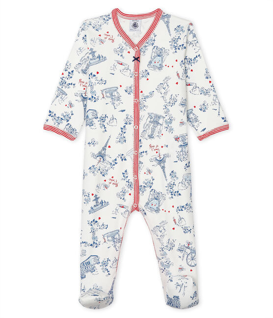 Pijama de punto para bebé blanco Marshmallow / blanco Multico