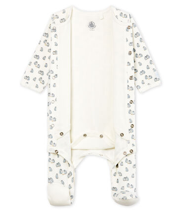 Bodyjama para bebé niño de terciopelo