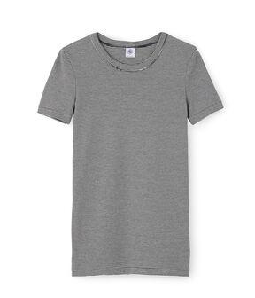 Camiseta icónica para mujer azul Smoking / blanco Marshmallow