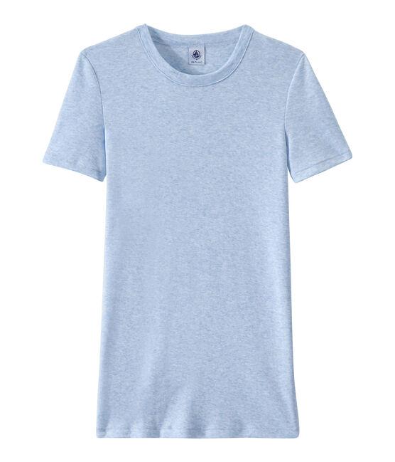 Camiseta de punto original para mujer azul Cumulus Chine