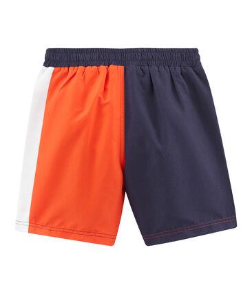Shorts de playa para niño azul Touareg / naranja Spicy
