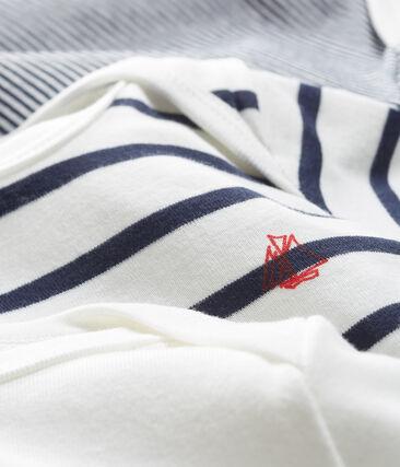 Trío de bodis manga corta para bebé unisex