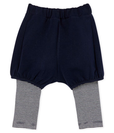 Leggings con shorts para bebé niña azul Smoking / blanco Marshmallow