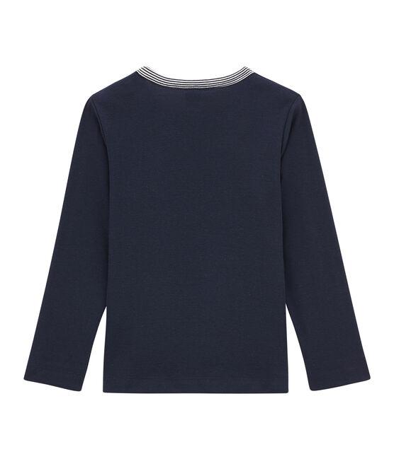 Camiseta de manga larga para niño azul Smoking