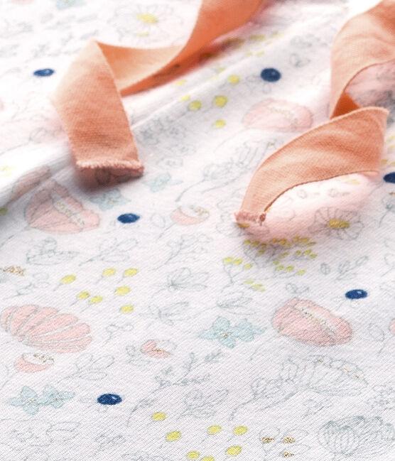 Pantalón de pijama combinable para niña blanco Ecume / rosa Rose
