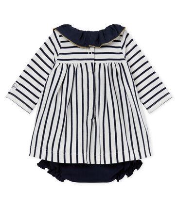Vestido body de rayas para bebé niña