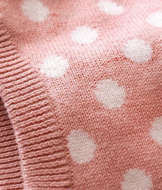 Pasamontañas para bebé mixto rosa Joli / blanco Marshmallow
