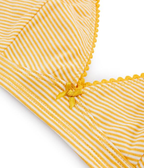 Sujetador triangula de mujer amarillo Boudor / blanco Marshmallow