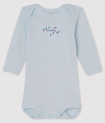 Bodi de manga larga para bebé niño azul Fraicheur