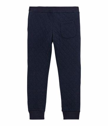 Pantalón para niño en túbico acolchado azul Smoking