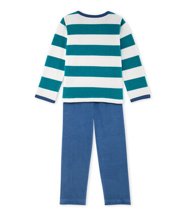 Pijama de terciopelo de rayas para niño
