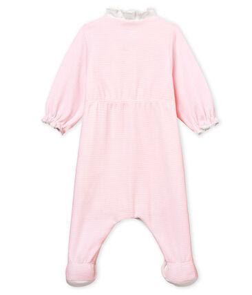 fb1b3b973 Bodyjama de terciopelo milrayas para bebé niña