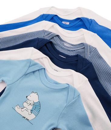 Bolsita sorpresa de 7 bodis de manga larga para bebé niño
