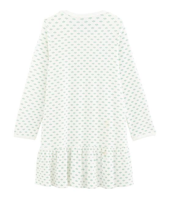 Camisón para niña de punto blanco Marshmallow / blanco Multico