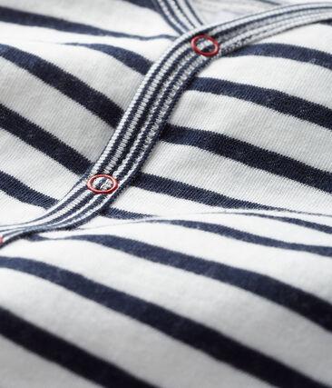 Pijama sin pies de túbico para bebé niño blanco Marshmallow / azul Smoking