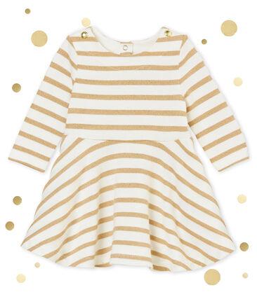 Vestido marinero dorado para bebé niña