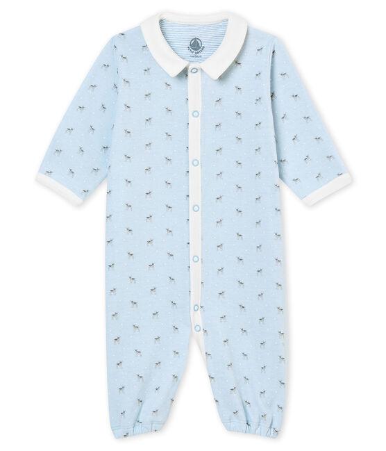 Saco para bebé niño en túbico estampado azul Fraicheur / blanco Multico