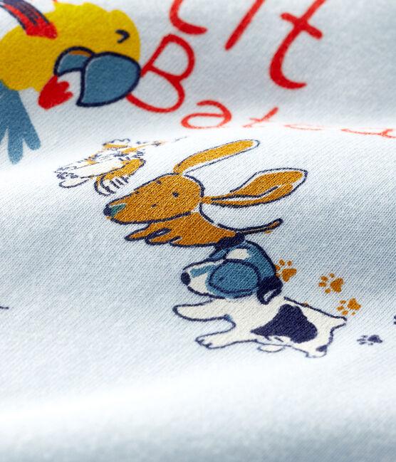 Camiseta de manga corta para bebé niño azul Fraicheur