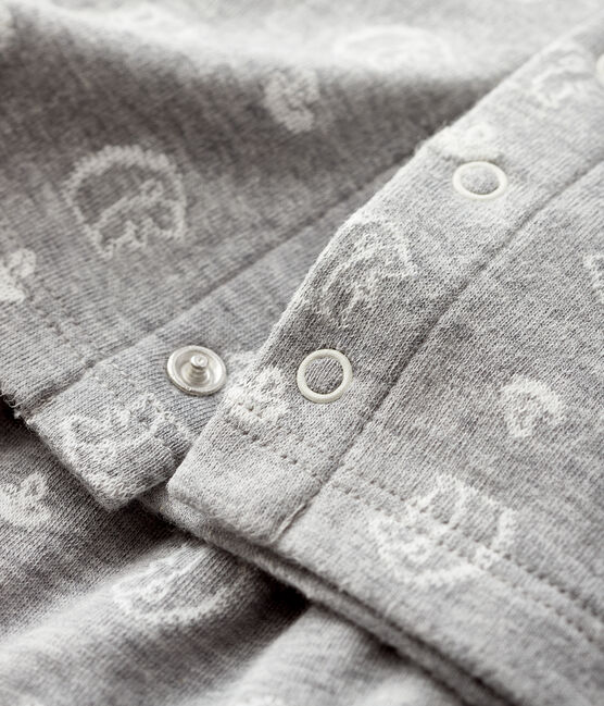 Conjunto de 2 piezas de jacquard para bebé de túbico gris Subway / blanco Marshmallow