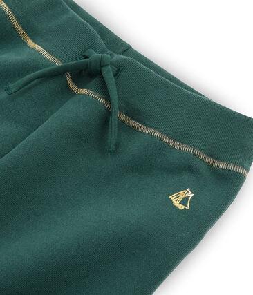 Pantalón de felpa de niña verde Sousbois