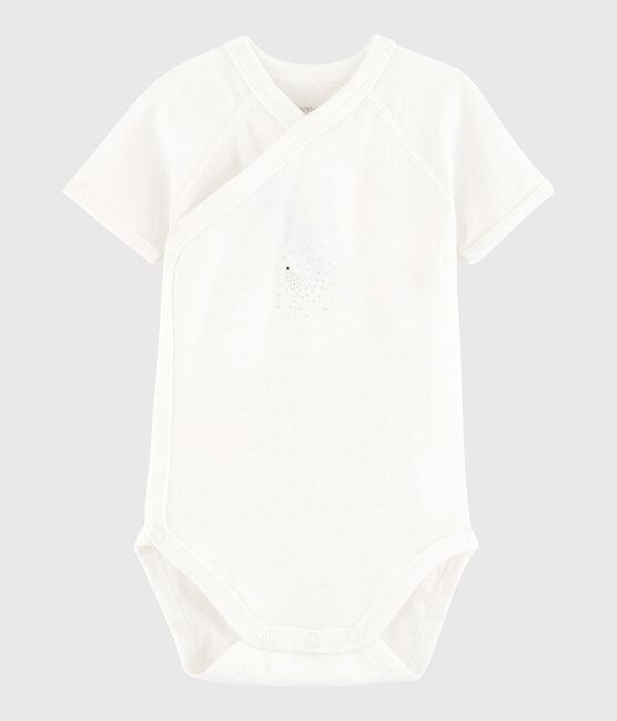 Bodi cruzado de manga corta de bebé niña/niño MARSHMALLOW/FILANTINE