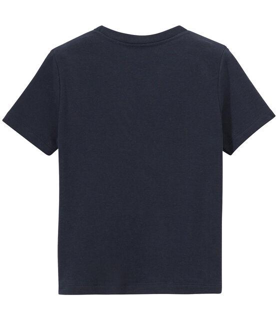 Camiseta para niño con estampado azul Smoking