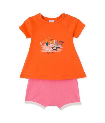 Conjunto de camiseta y short para bebé niña