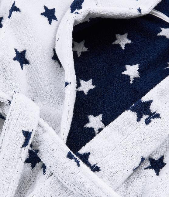 Albornoz de rizo para niño blanco Marshmallow / azul Medieval