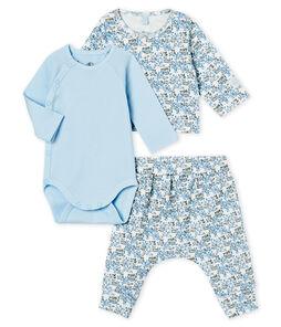 Conjunto de tres piezas para bebé niño de punto blanco Marshmallow / blanco Multico
