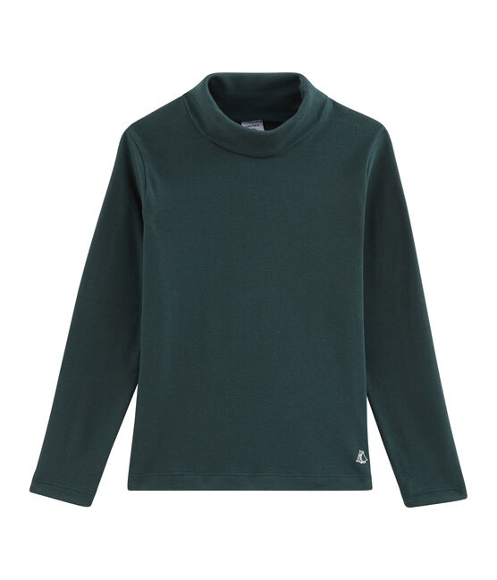 Jersey de cuello alto infantil unisex verde Sherwood