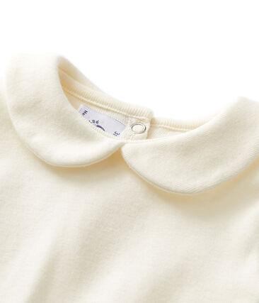 Body bebé niña de cuello claudine beige Coquille