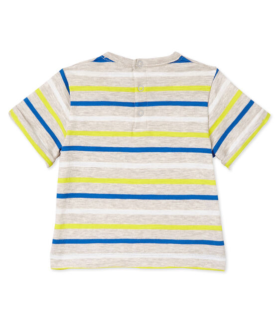 Camiseta de rayas para bebé niño beige Creamy / blanco Multico