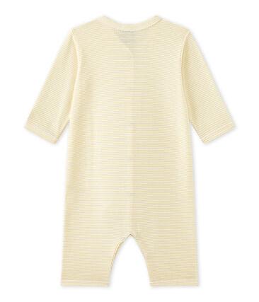 Pijama sin pies milrayas para bebé niña amarillo Pamplemousse / blanco Ecume