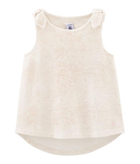 Camiseta de tirantes infantil para niña blanco Marshmallow / rosa Copper