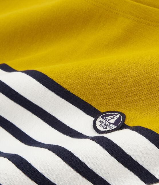 Jersey marinero manga corta para mujer amarillo Bamboo / blanco Marshmallow