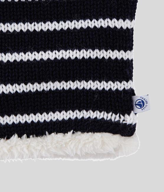 Cuello para niña/niño azul Smoking / blanco Marshmallow