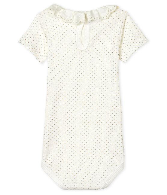 Bodi para bebé niña con collarín blanco Marshmallow / amarillo Or