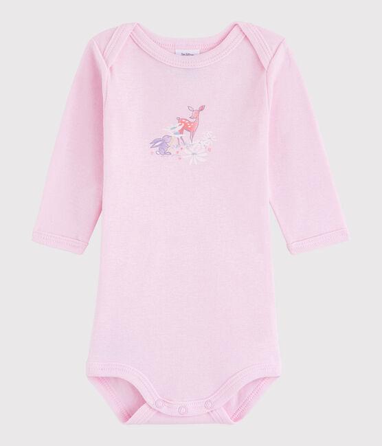 Bodi de manga larga de bebé niña/niño rosa Doll